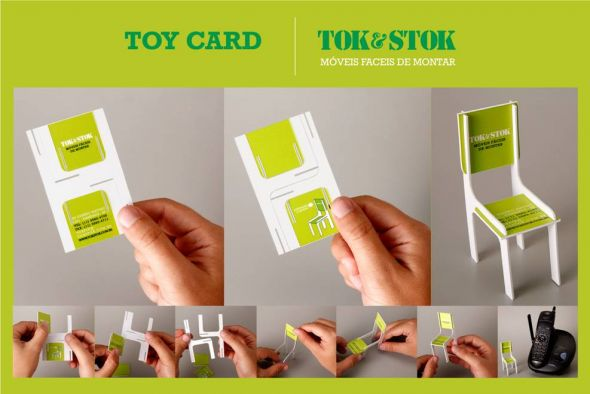 "Tok&Stok: Toy Chair Business Card | Ads of the Worldâ""¢"