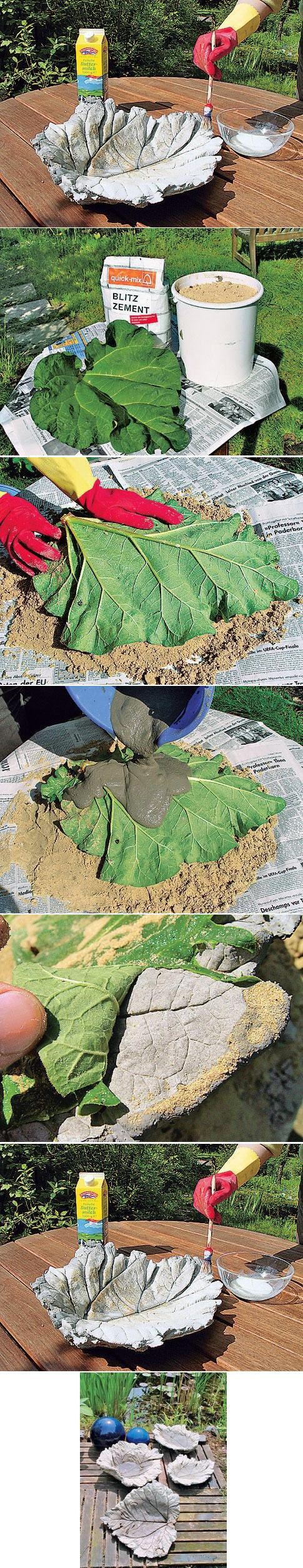 DIY Concrete Leaf Bird Bath DIY Projects | UsefulDIY.com