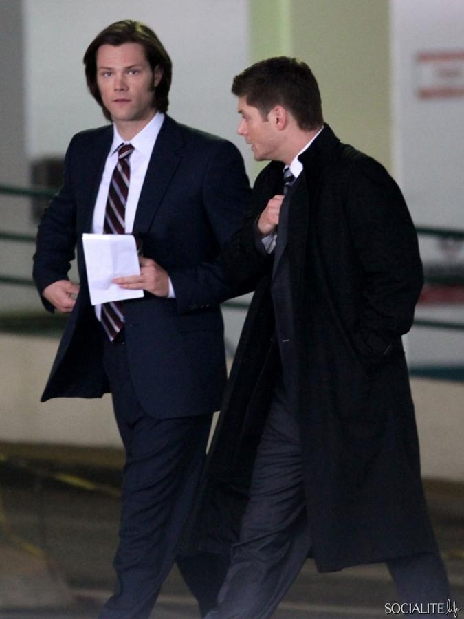 Jared Padalecki & Jensen Ackles Film 'Supernatural' In Vancouver | Full Size Photo | 1 | Socialite Life