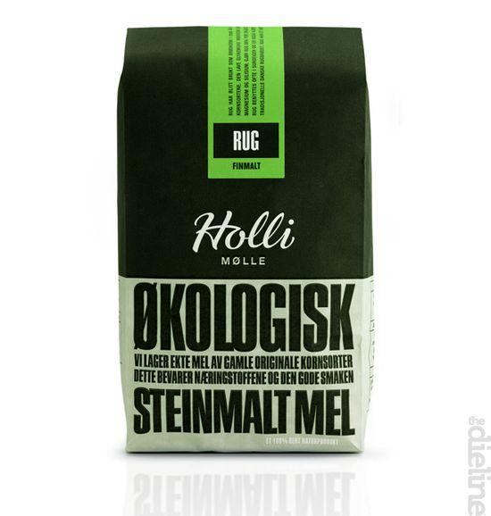HOLLI MØLLE organic flour - The Dieline: The World's #1 Package Design Website -