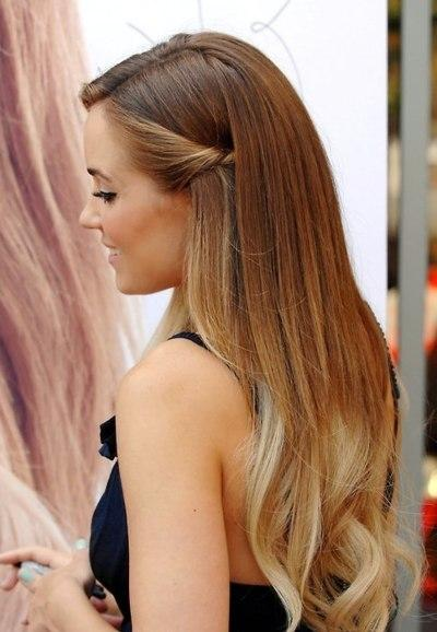 blonde, dip dyed, hair, lauren conrad, ombre - inspiring picture