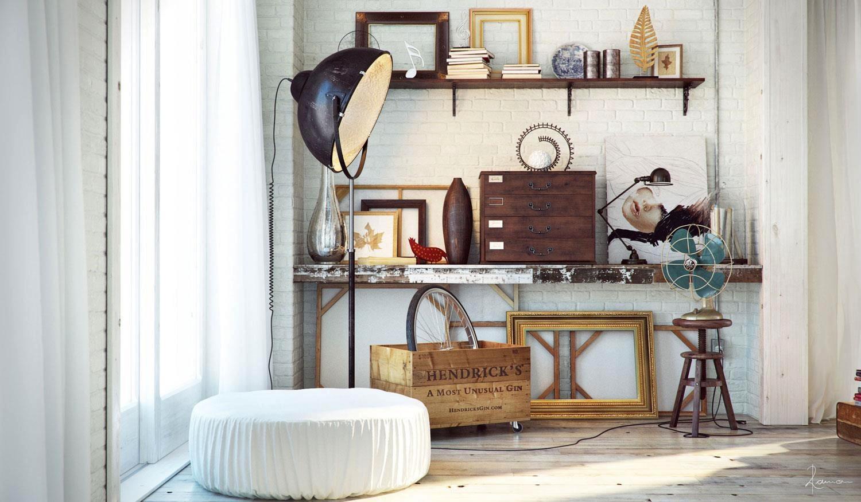 Industrial bedrooms interior design interior decorating for Bedroom ideas industrial