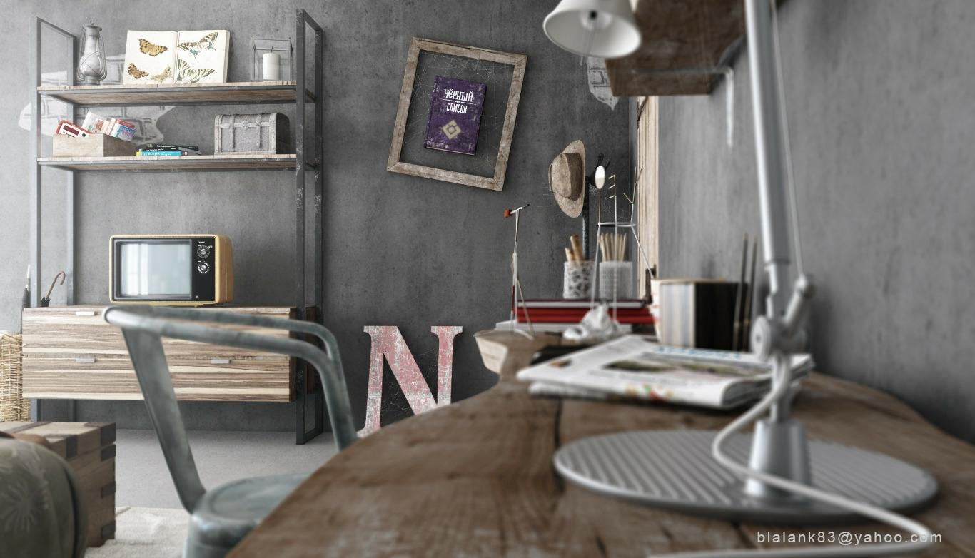 Industrial bedrooms interior design interior decorating for Interior design 4 room