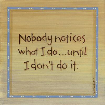 Nobody Notices Print by Karen Tribett at Art.com