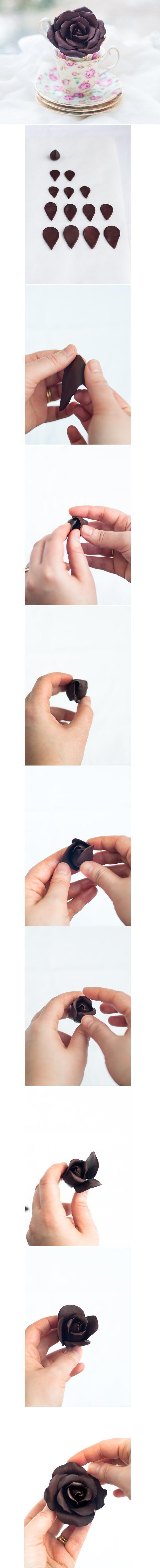 DIY Pretty Polymer Clay Rose DIY Projects | UsefulDIY.com