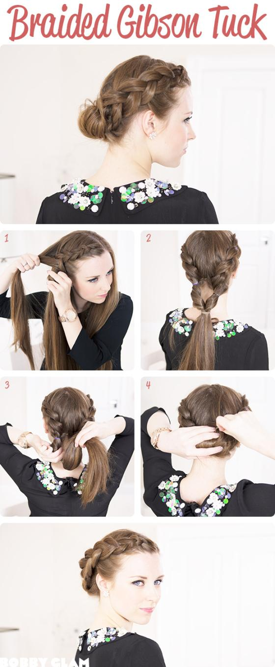DIY Braided Gibson Tuck Hairstyle DIY Fashion Tips | DIY Fashion Projects