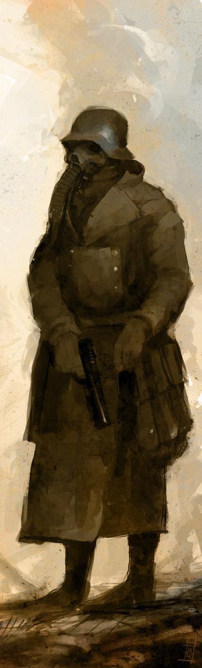 Gasmask Soldier by *Marcodalidingo