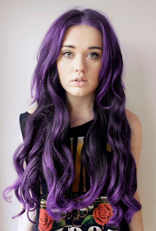 Purple Tumblr Pictures Purple Hair | Via Tumblr