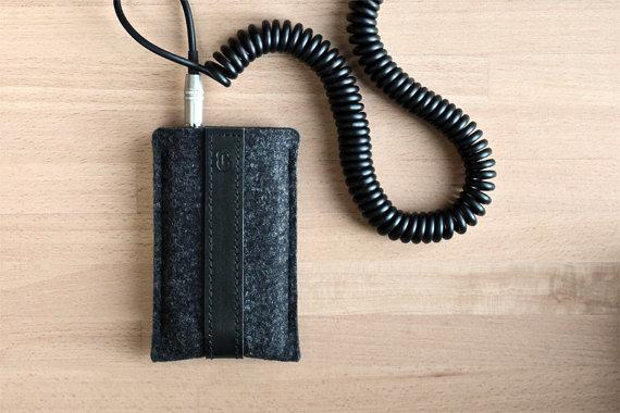 iPhone 4 / iPhone 4S Felt Sleeve Smokey Grey by Cocones on Etsy