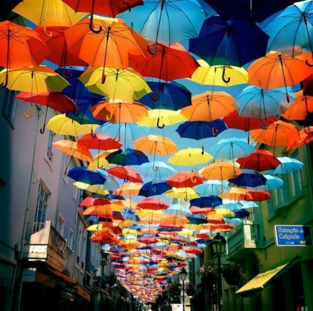 Colorful Umbrellas in Portugal – Fubiz™