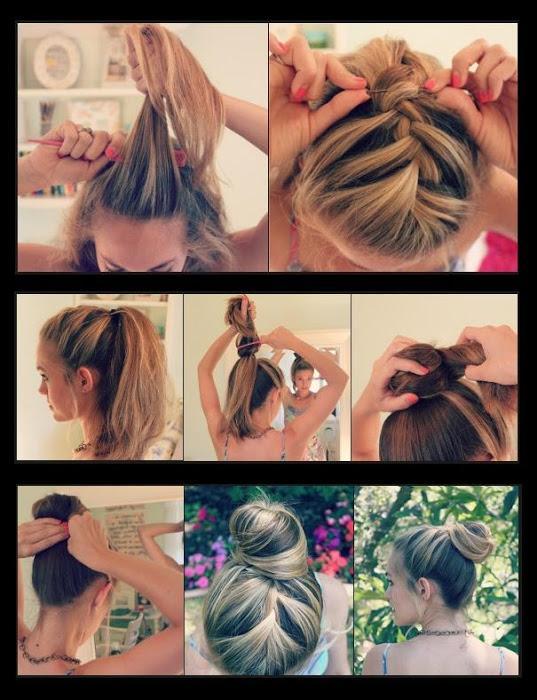 Diy Easy French Braid Bun Hairstyle Diy Fashion Tips Diy Fashion Projects 280114 On Wookmark