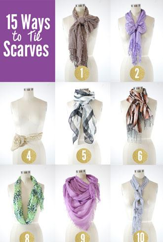 15 Chic and Creative Ways to Tie a Scarf | The Fashion Spot