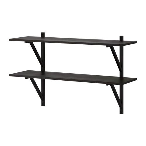NORRTORP Wall shelf - black - IKEA