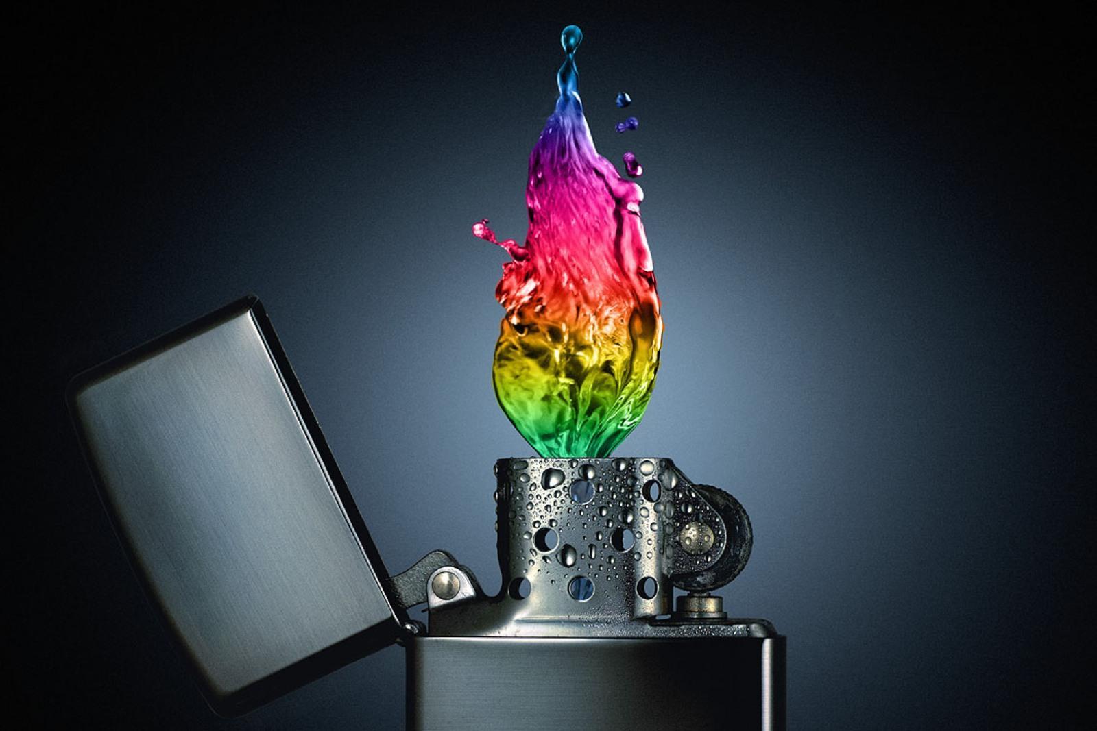 multicolor fire Zippo - Wallpaper (#57670) / Wallbase.cc