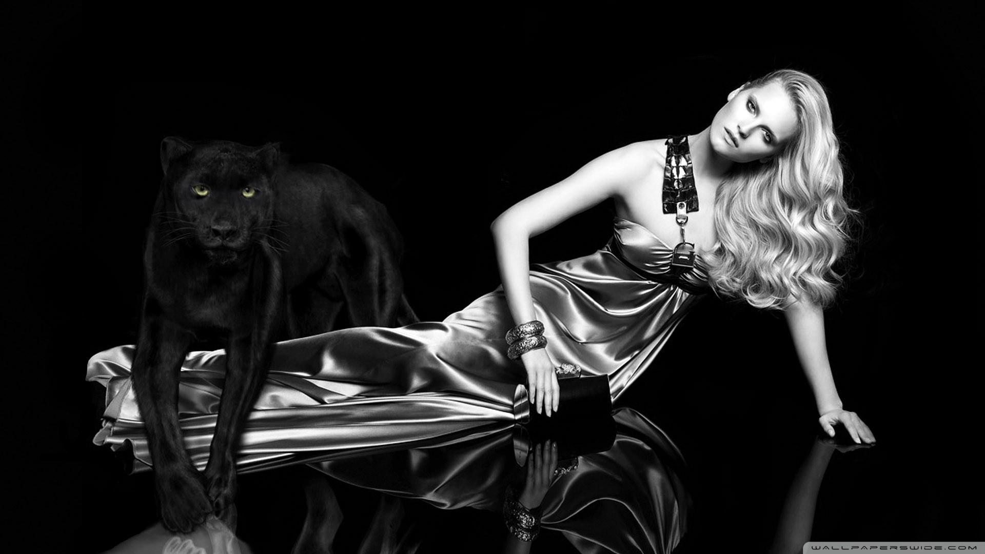 blondes women panthers fashion photography black background - Wallpaper (#1469965) / Wallbase.cc