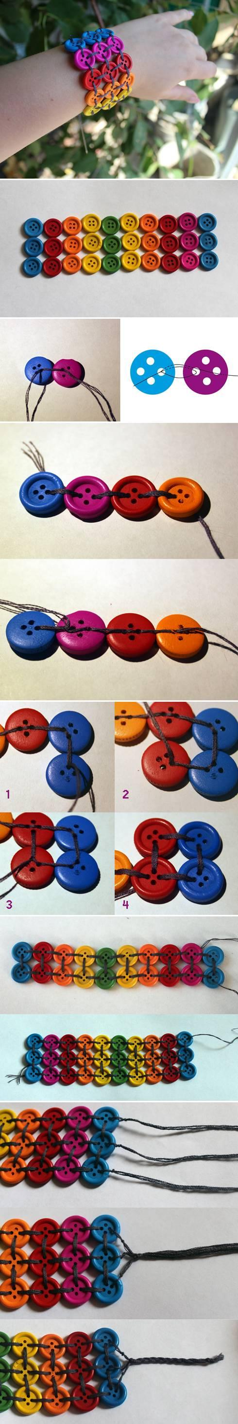 DIY Wide Buttons Bracelet DIY Projects | UsefulDIY.com