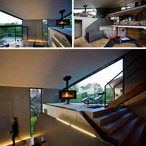Cold or Warm? Concrete Box Houses an Open-Plan Interior | Designs & Ideas on Dornob