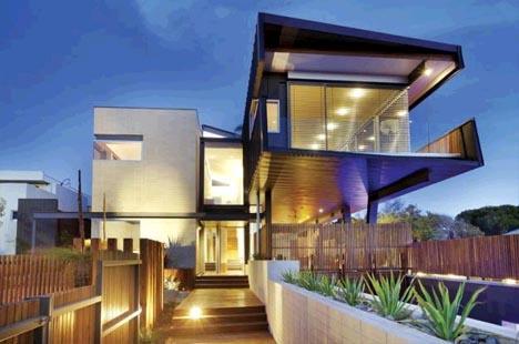 Steel Bridge Cantilever Home: Suburban Living on the Edge | Designs & Ideas on Dornob