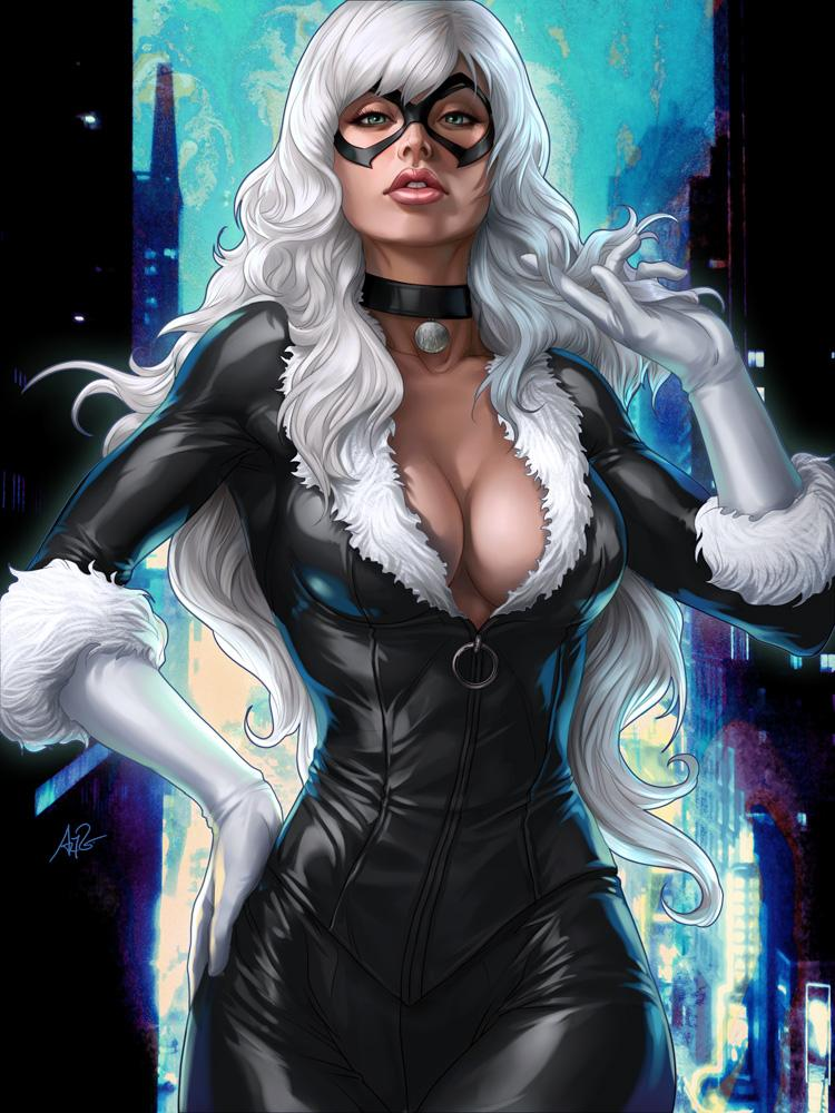 Black Pussy Cat by `Artgerm