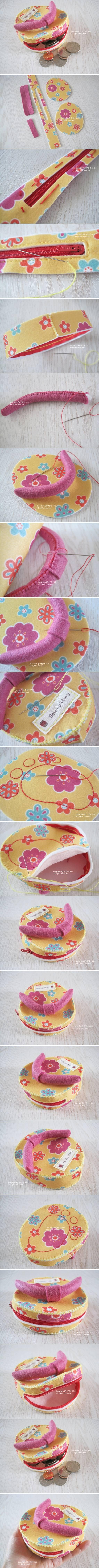 DIY Cute Flip Flop Coin Purse DIY Projects | UsefulDIY.com