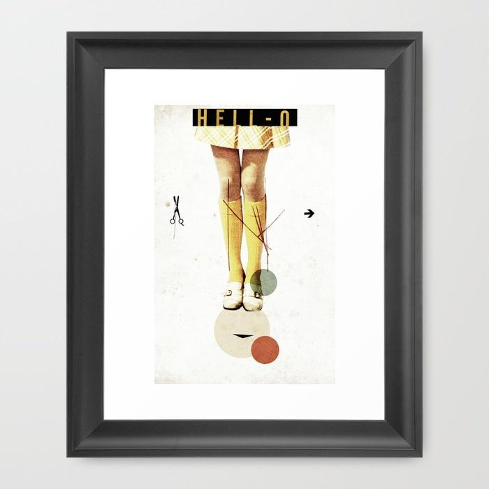 Cut The (...) Framed Art Print by Ju. Ulvoas | Society6