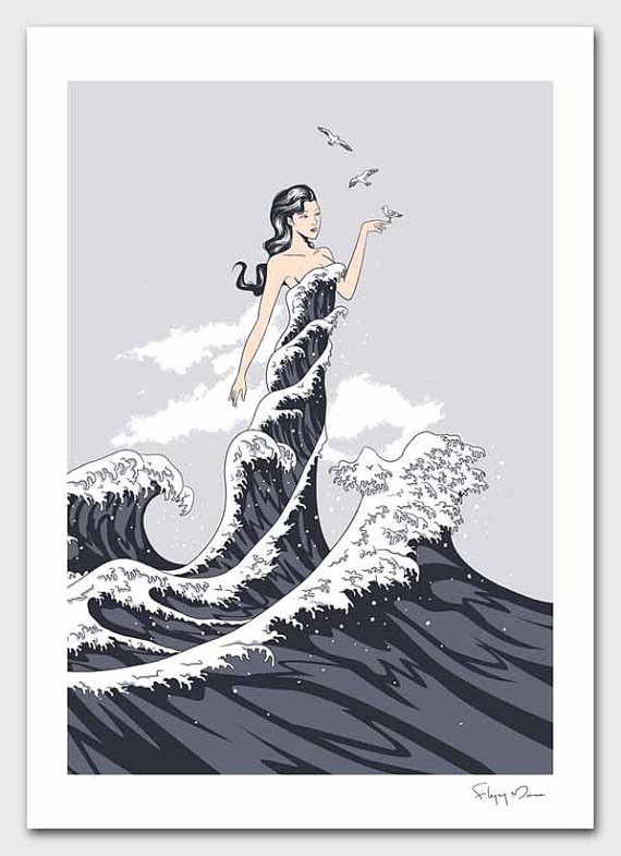 Wave Dress by flyingmouse365 on Etsy