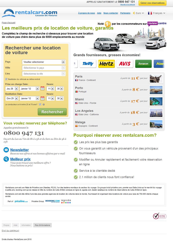 Location Voiture | Location de Voiture pas cher avec RentalCars.com