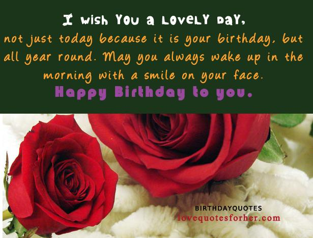 Happy birthday quotes and sayings for her ( Girlfriend or wife ...