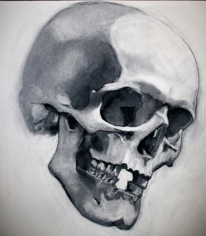 Charcoal and Bone IV by ~napoleoman