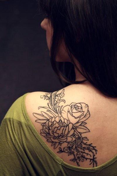 Piccsy :: flower tattoo