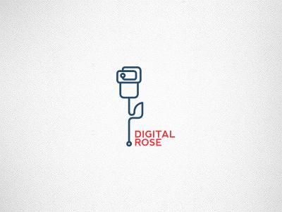 Digital Rose logo by Mynus
