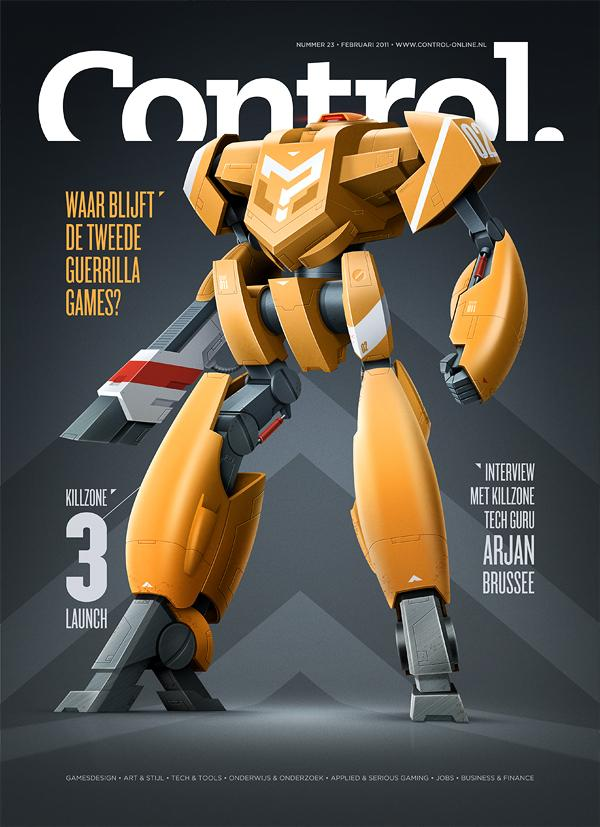 Control Magazine cover & item on Digital Art Served