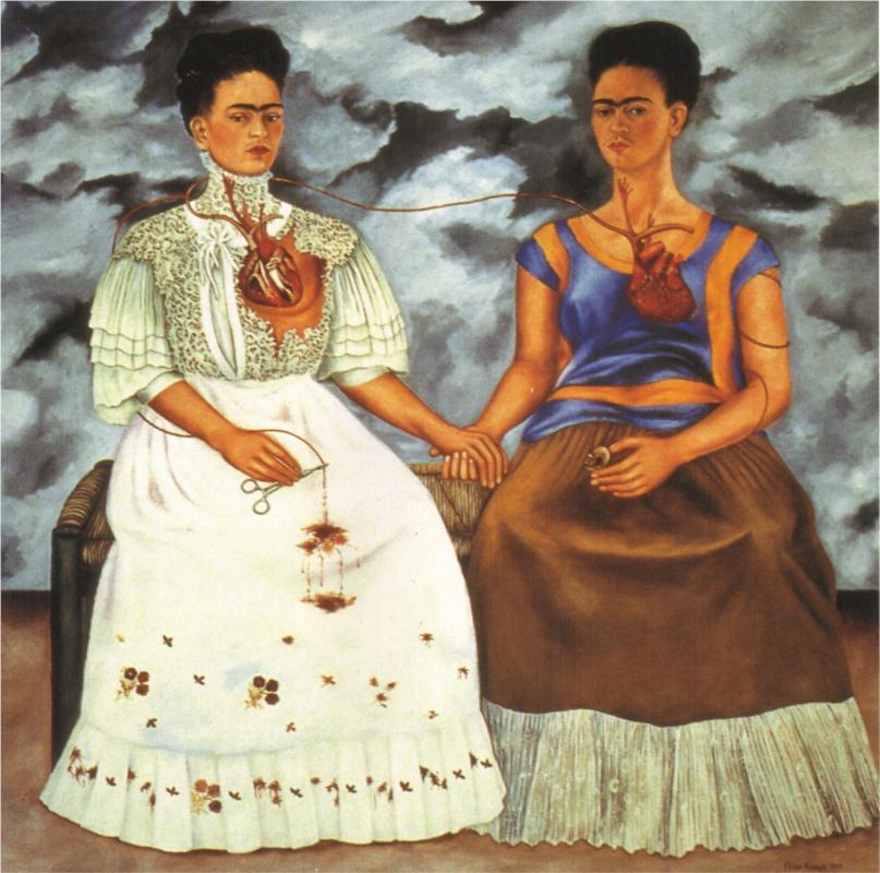 Self Portrait - Time Flies - Frida Kahlo - WikiPaintings.org