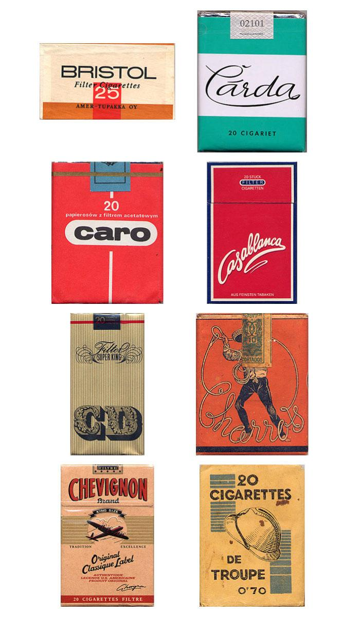 Vintage Packaging: Collection of Cigarette Packs - The Dieline: The World's #1 Package Design Website -
