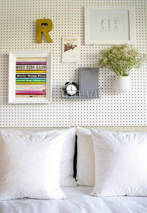 before & after: pegboard bedroom wall | Design*Sponge