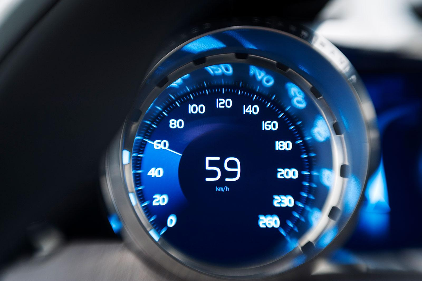 Volvo Concept Coupe Interior - Speedometer design - Car Body Design