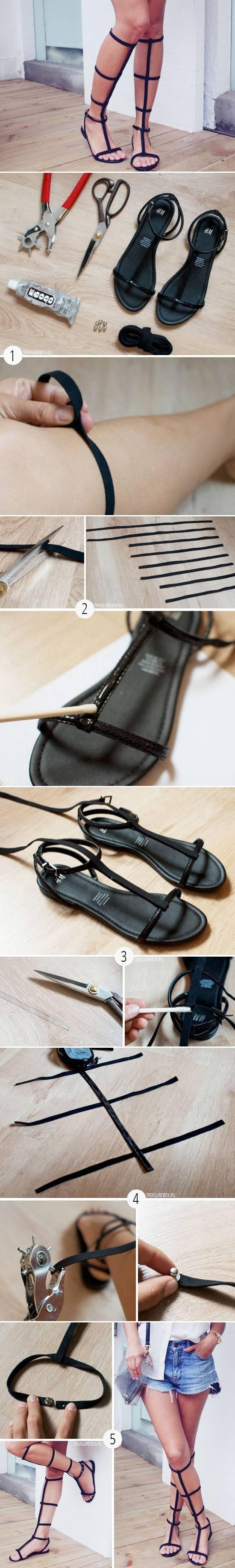 DIY Nice Old Sandal Transformation DIY Projects | UsefulDIY.com