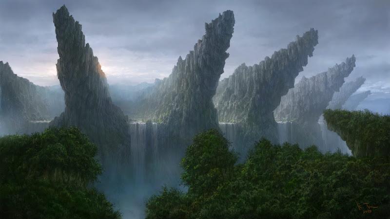 Konachan.com+-+95749+clouds+forest+k-takano+landscape+original+scenic+sky+tree+water+waterfall.jpg (800×450)