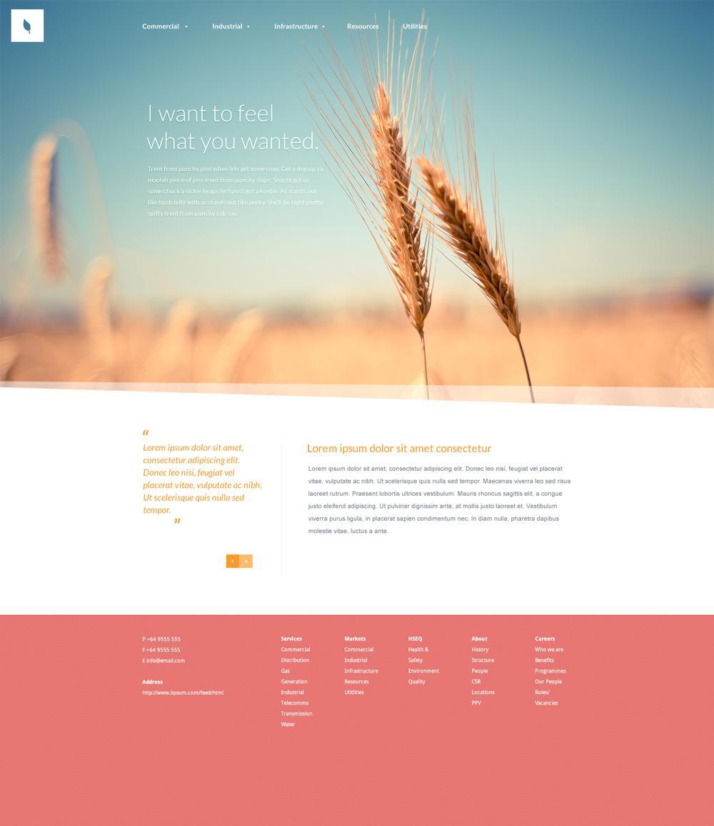 Organic - Web Template (PSD) - Designer First