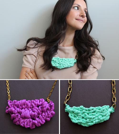 Chic Chunky Necklaces Using Chain and Spandex DIY Tutorial | Hip Home Making.com