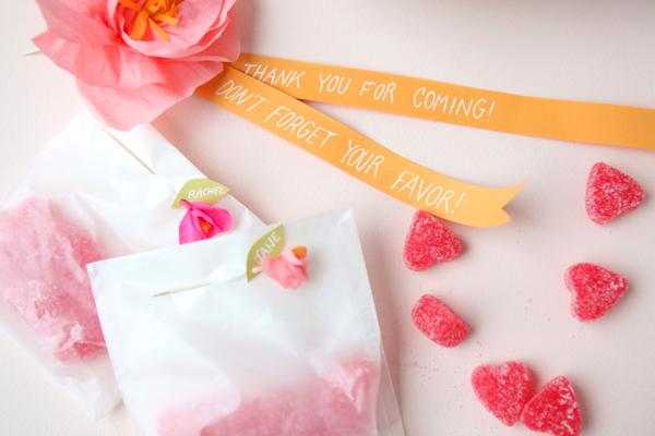 Mini Crepe Paper Flower Favors DIY
