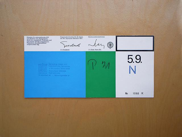 Munich Olympics, Parking Ticket | Flickr - Photo Sharing!