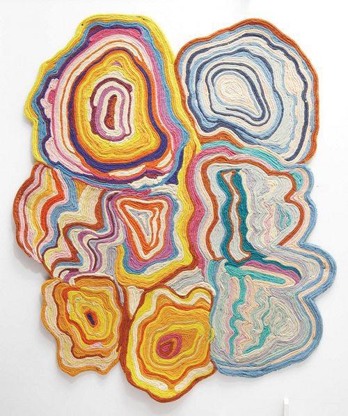 whorled felt rug | Design*Sponge