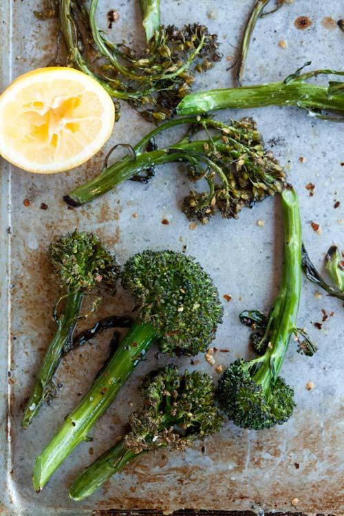 in the kitchen with: gaby dalkin's spicy roasted broccolini quinoa salad | Design*Sponge