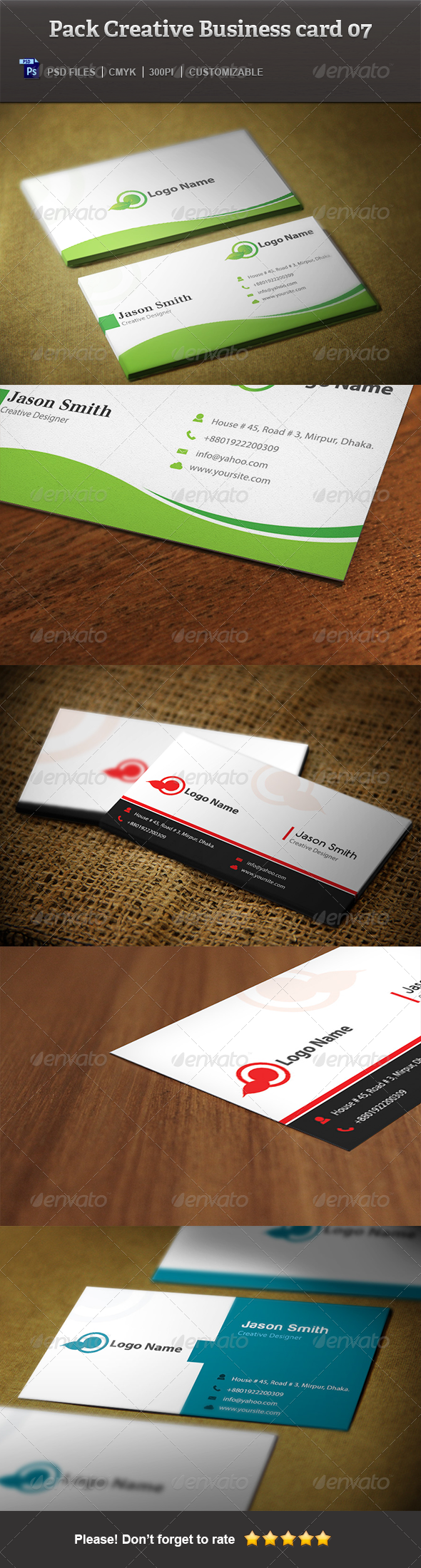 pack creative business card 07 print templates gfx database