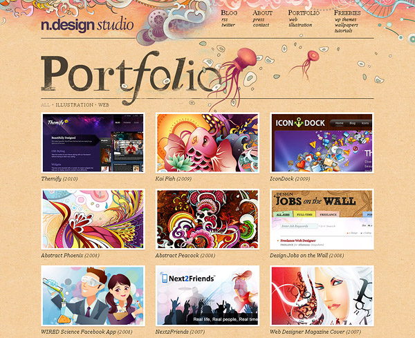 40 Most Beautiful Hand-Drawn Website Designs at DzineBlog.com - Design Blog & Inspiration