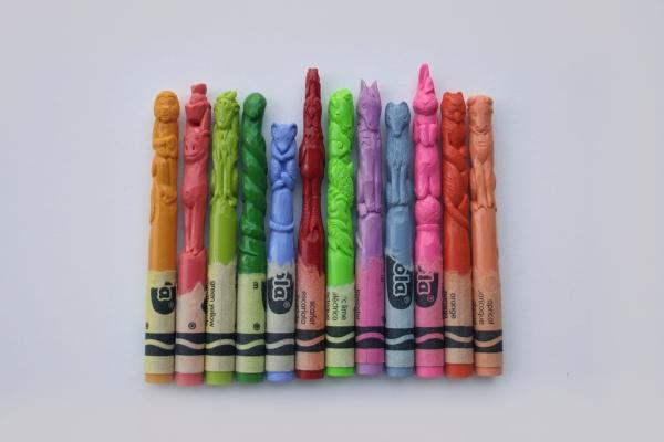 Crayon sculptures by Diem Chau | Colossal