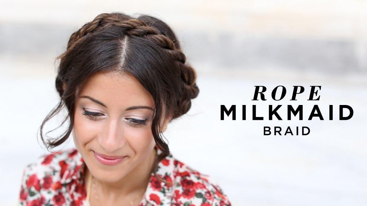 Rope Milkmaid Braid DIY Fashion Tips | DIY Fashion Projects