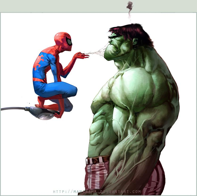 Spidey vs. Hulk by ~Manarama