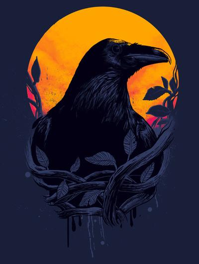 Raven Art Print by Carbine | Society6